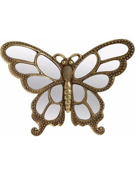 Fluture decor auriu cu oglinda