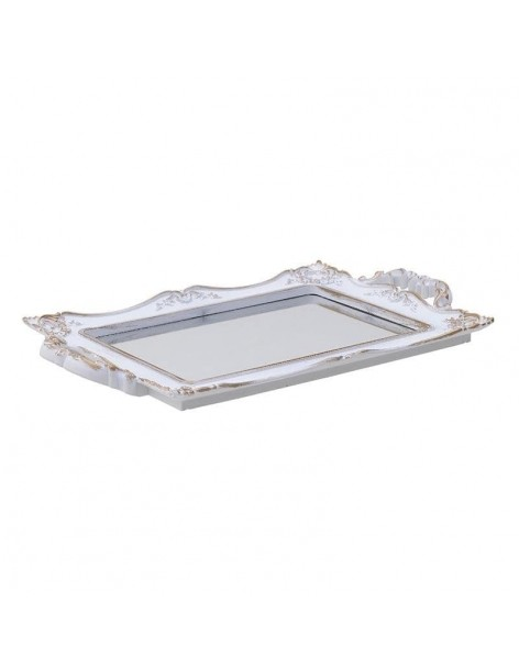 Tray with mirror, antique...