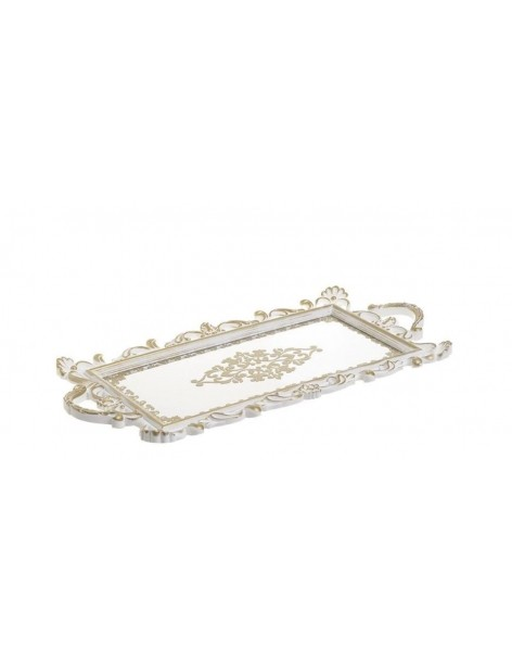 Antique mirror tray with...