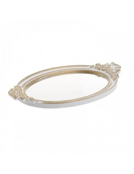 Oval tray with antique...