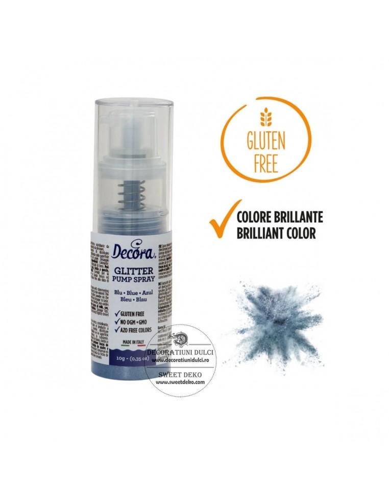 Blue Sparkling Color Pump Spray