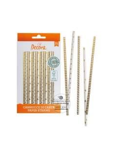 Star & Stripes Gold Straws