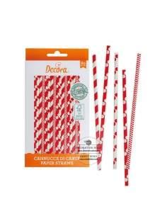 Red and White Straws, Decora