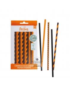 Orange and Black Straws,...