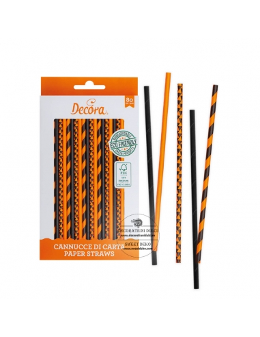 Orange and Black Straws, Decora