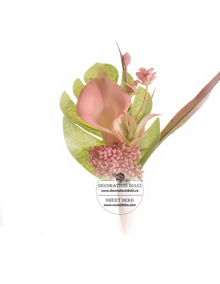 Flower Cake Topper - Pink Lily Calla