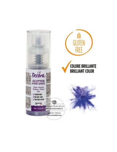 Purple Sparkling Color Pump Spray
