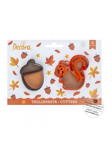 Forest Squirrel Acorn Plastic Cookie