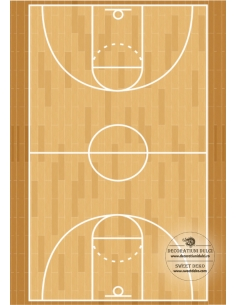 Terrain de basket, image...