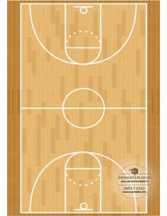 Basketball court, Edible Image