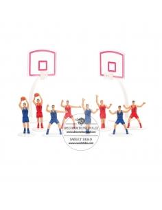 Cake topper Basket joueurs