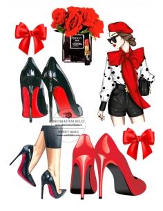 Dama de rojo - Cuadros...