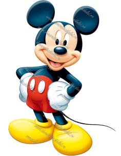 """Editable picture """"Mickey Mouse"""""""