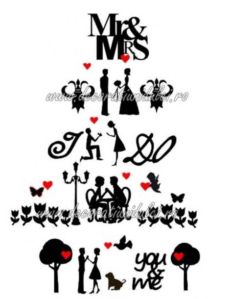 Imagini siluete stilizate nunta
