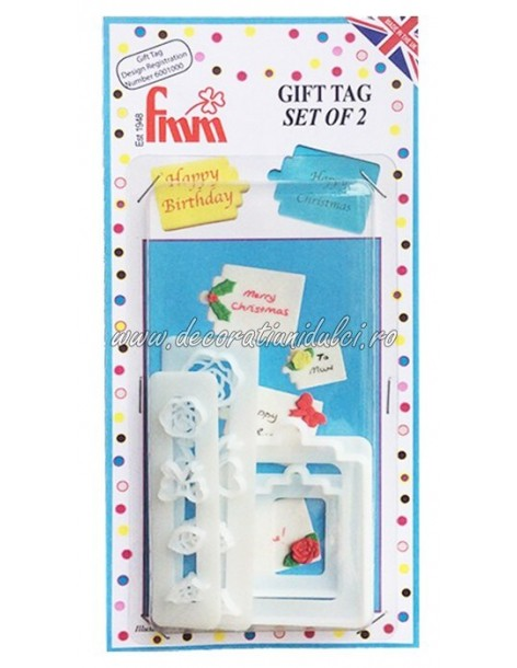 Decupator eticheta cadou