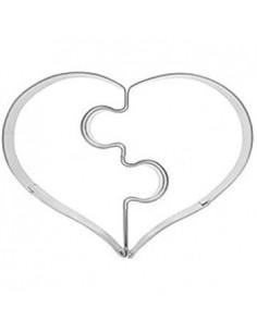 Cut heart puzzle