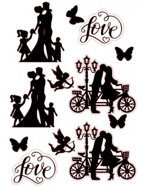 Silhouettes Edible Wedding...