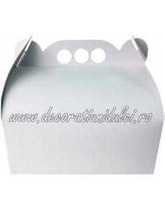 Cake box, perforated handle