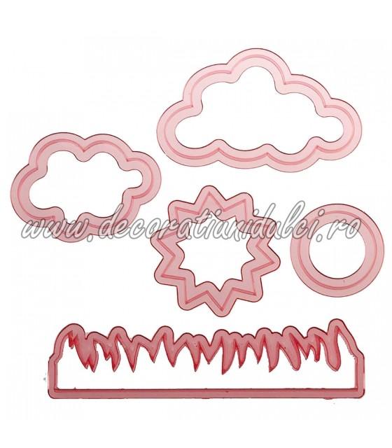 Decupatoare clouds, sun and...