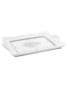 White dcarrative tray,...