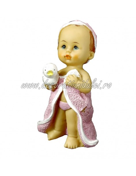 Figurine girl, first bath