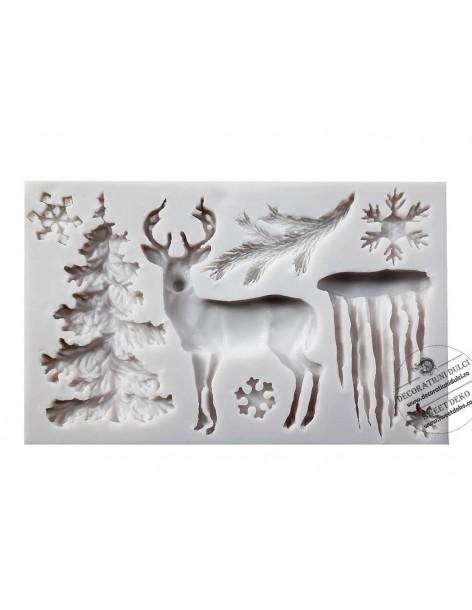 Mold deer, winter