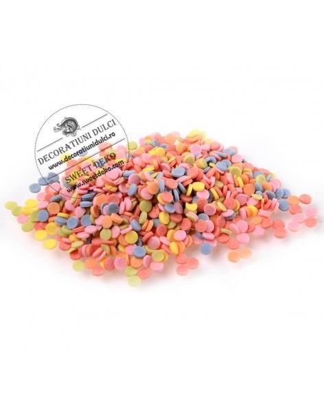 Confetti round multicolored