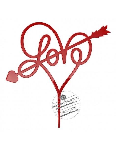 Topper heart Love, plexi