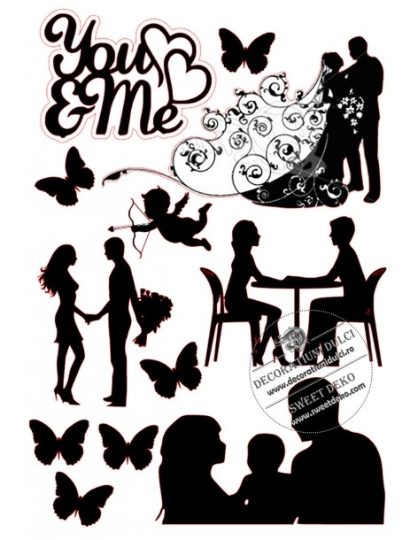 Cake silhouettes - Family Love