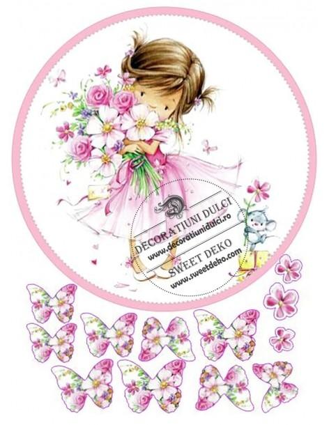 Image edible sweet little girl