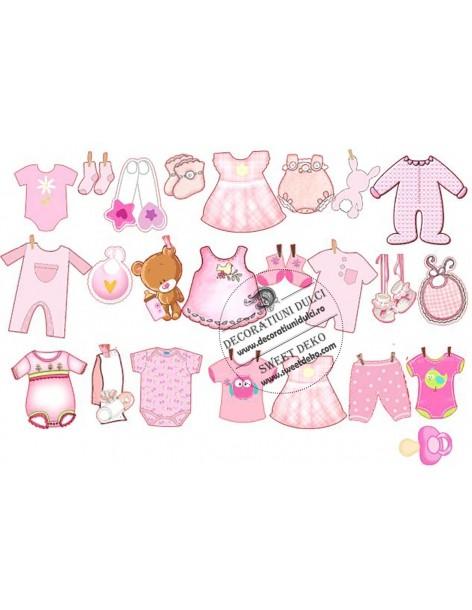 Clothes edible image girl