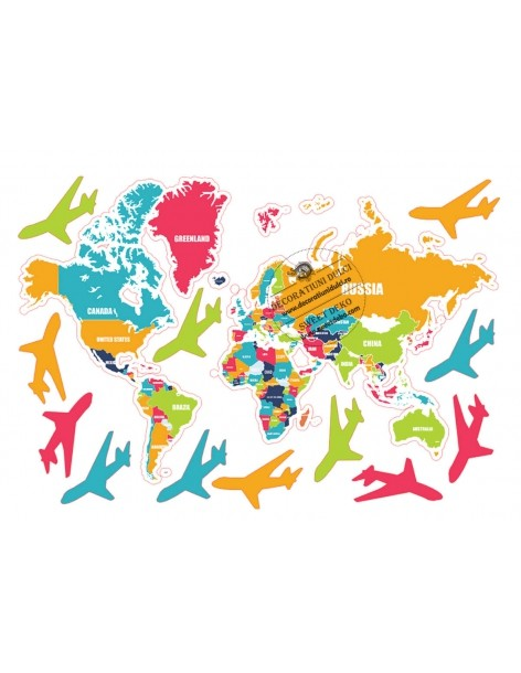 Image edible colored world map