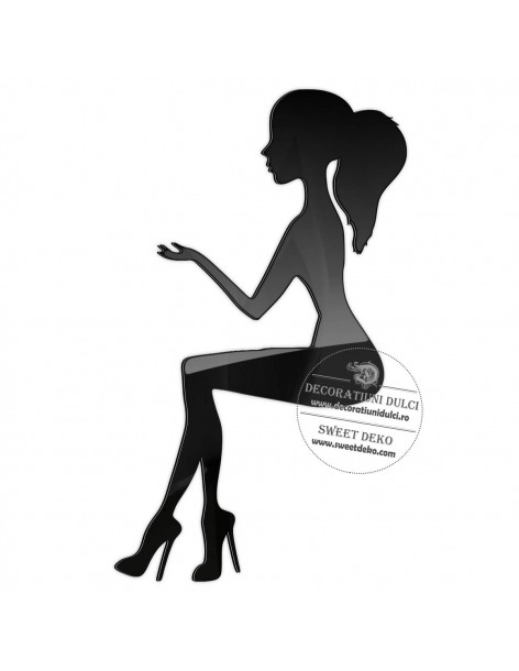 Cake topper silhouette, young