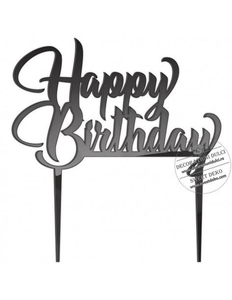 Topper Happy Birthday, plexi