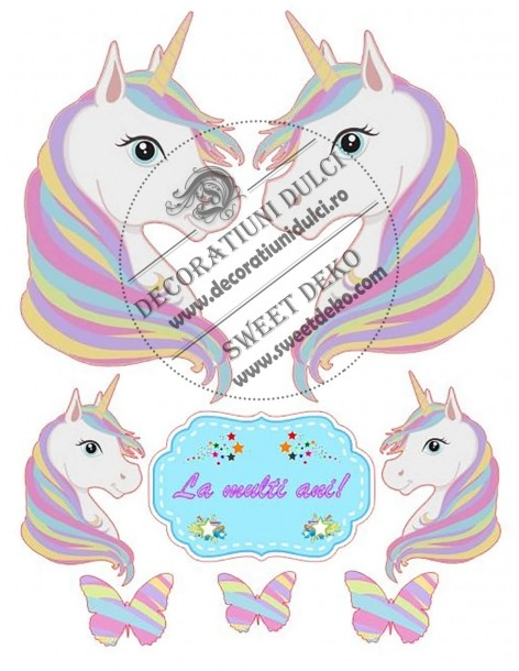 Image edible portrait unicorn