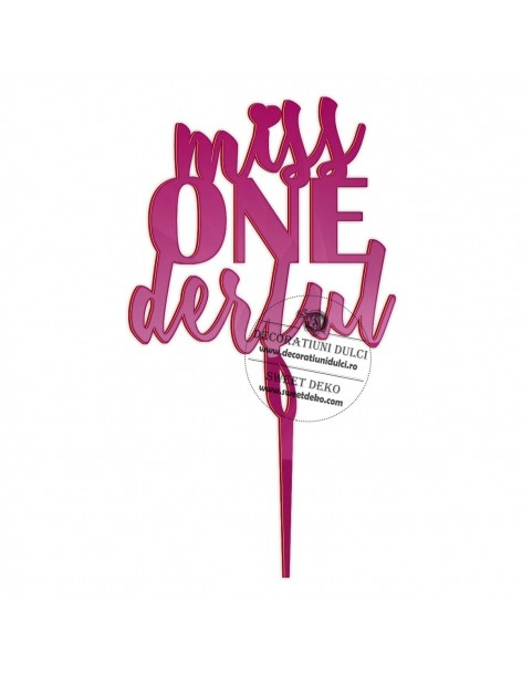 Topper Miss ONEderful, plexi