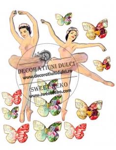 Vintage Ballerina edible image