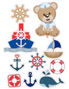 Sailor Bear edible image