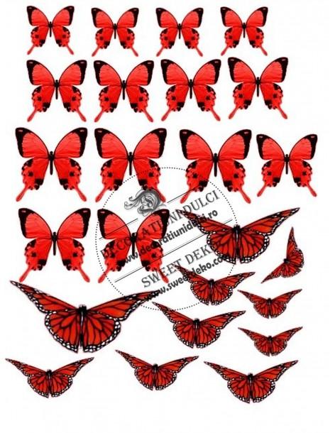 Image edible red butterflies