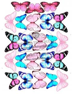 Image edible blue pink...