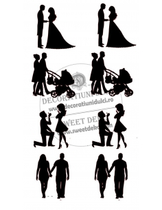 Silhouettes Love on timeline