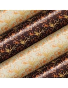 Tranfer foil orange petals...