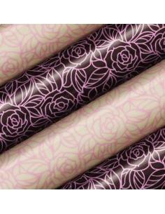Tranfer foil stylized rose...