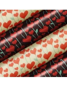 Tranfer foil hearts flowers...