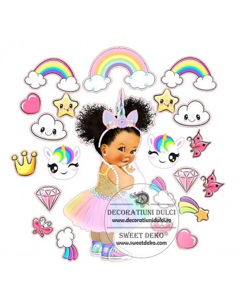 Edible image girl unicorn