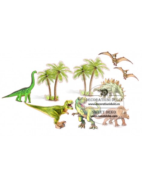 Dinosaurs and palms edible...