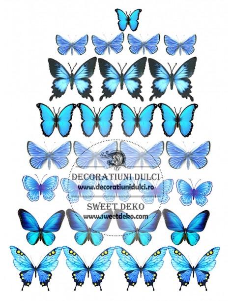 Image edible blue butterflies