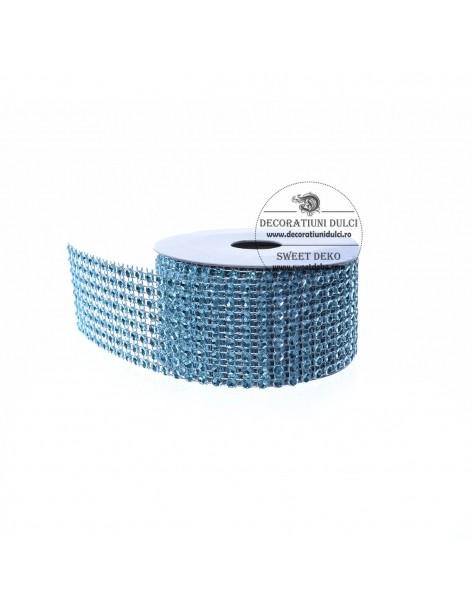 Band blue rhinestone