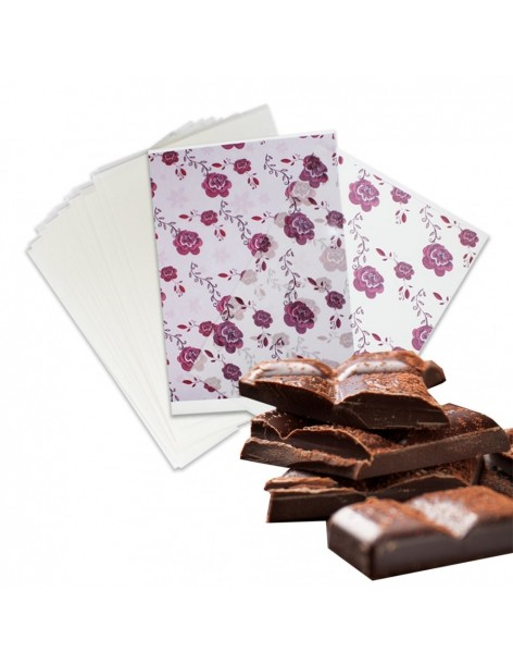 Chocolate transfer sheets,...