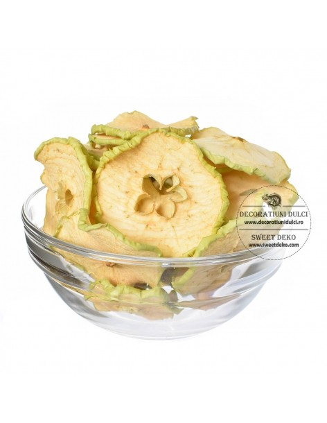 Green apple slices dried...